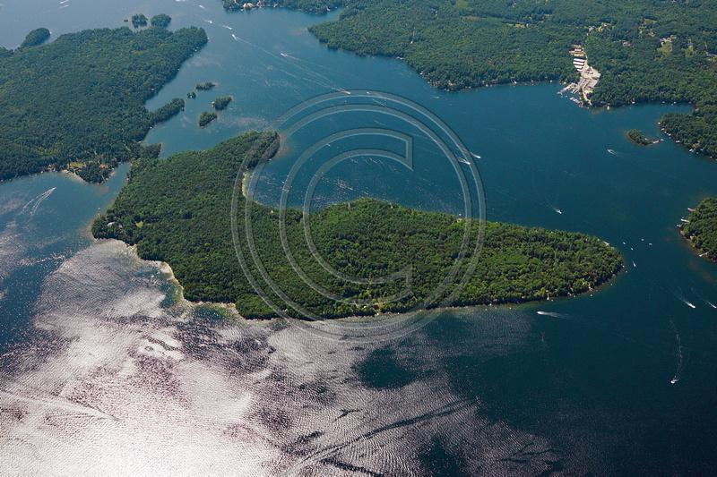 Aerial Photo Nh Winnipesaukee