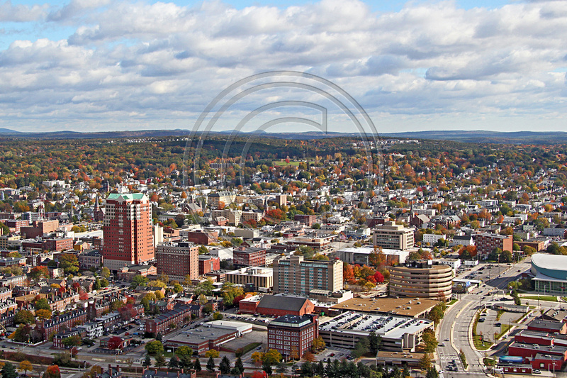 Aerial Photo Nh Manchester Downtown