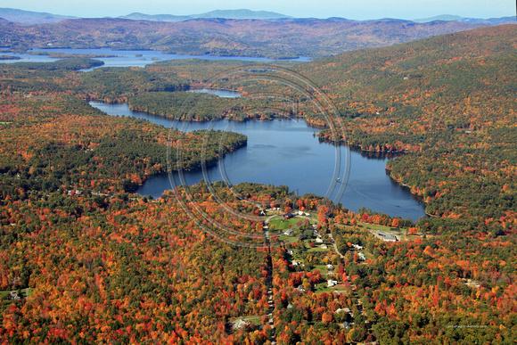 Aerial Photo Nh Moultonboro Tuftonboro Lake Kanasatka