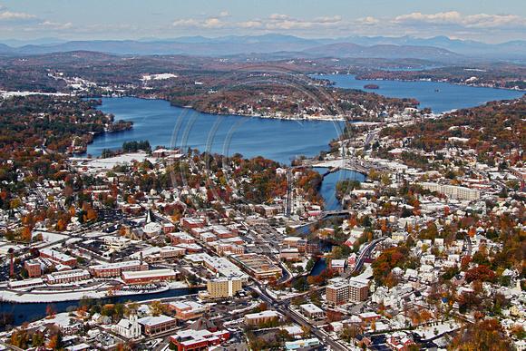Aerial Photo Nh Laconia Weirs Beach Downtown